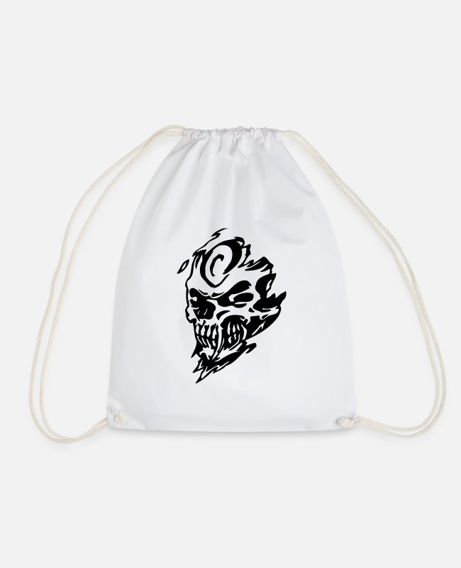 Skull And Crossbones Bags & Backpacks - skull1 - Drawstring Bag white