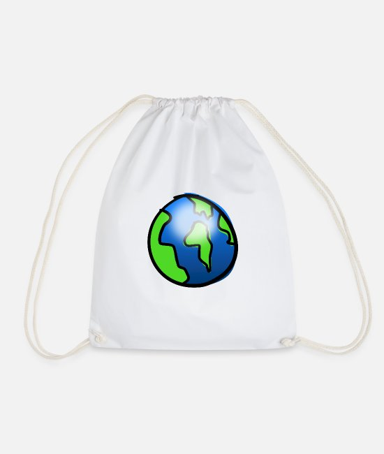 Earth Bags & Backpacks - earth - Drawstring Bag white