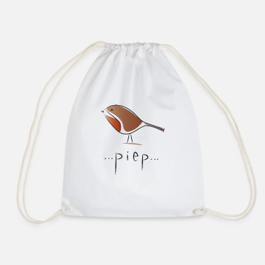 small bird - beep - Drawstring Bag