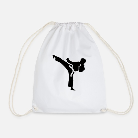 Karate Bags & Backpacks - Karate - Drawstring Bag white