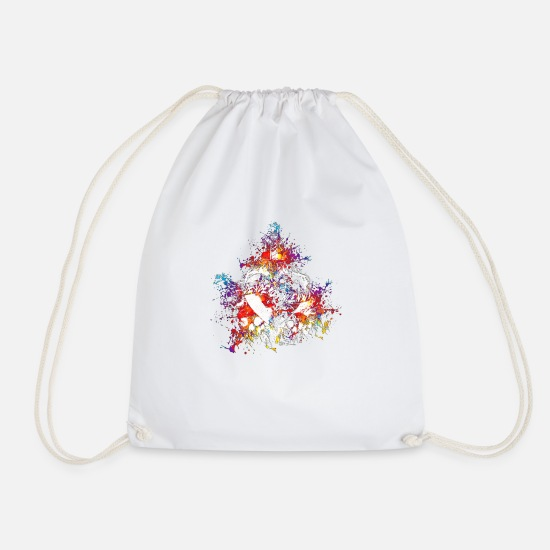 Love Bags & Backpacks - Desidero Incensus (Colour Splash) 01 - Drawstring Bag white