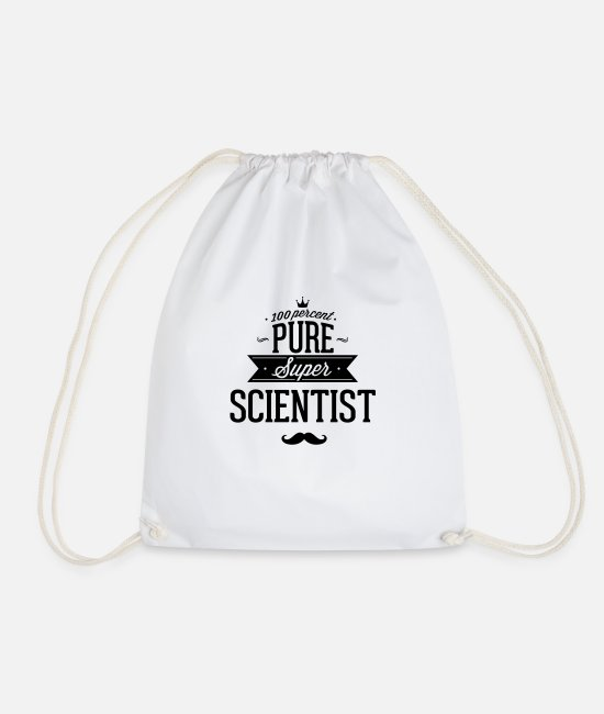 Professor Bags & Backpacks - To 100% scientists - Drawstring Bag white