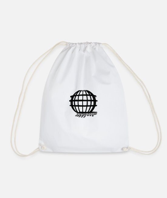 Art Bags & Backpacks - Ball attraction sketch style trend - Drawstring Bag white