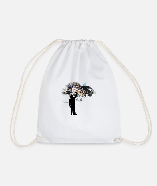 Drawing Bags & Backpacks - graffiti is art 3 by dk - Drawstring Bag white