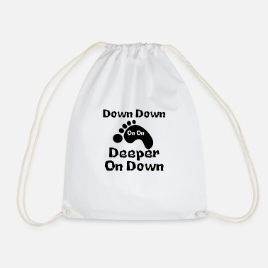 Down Down Down Deeper And down - Drawstring Bag