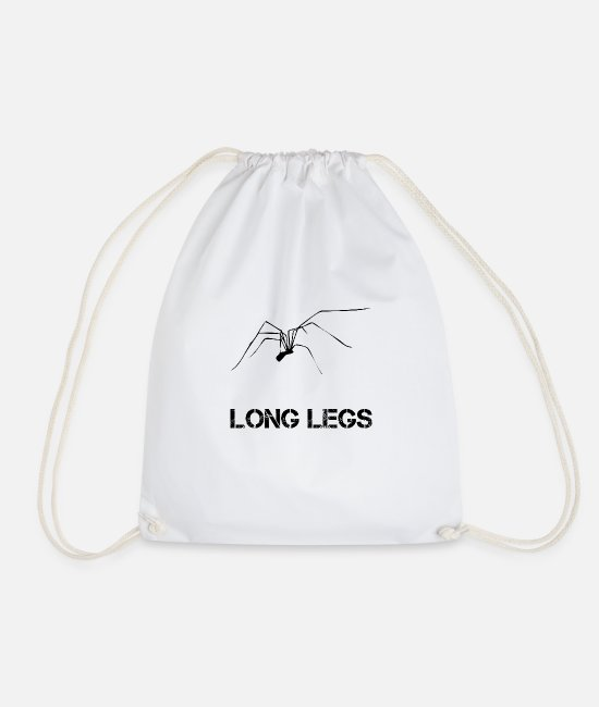 Nature Bags & Backpacks - Long legs spider white - Drawstring Bag white