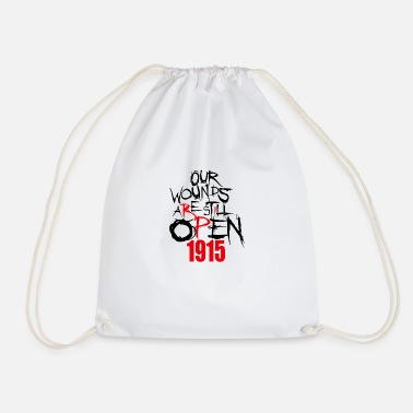 1915 Our Wounds are still open 1915 Armenian - Drawstring Bag