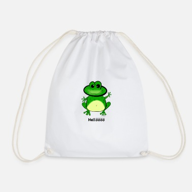 Hello frog - Drawstring Bag