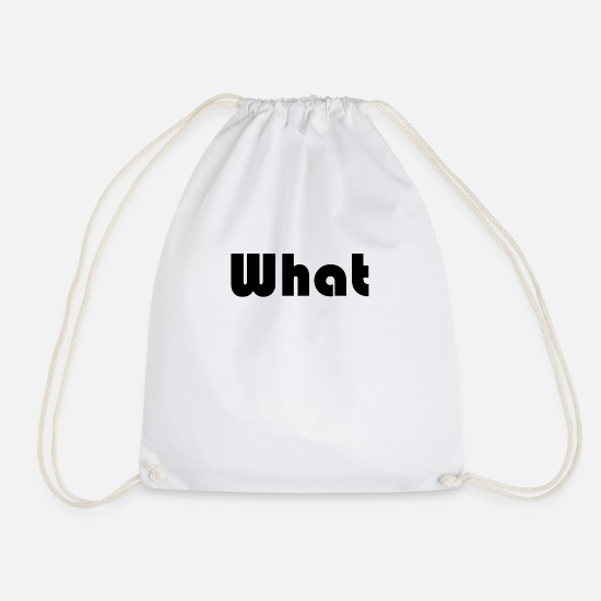 Question Bags & Backpacks - What - Drawstring Bag white