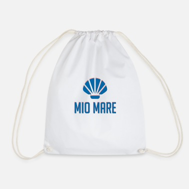 Mio Mare blue shell - Drawstring Bag