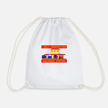 Figure Of Speech Denglish - I only understand the railroad station - Drawstring Bag