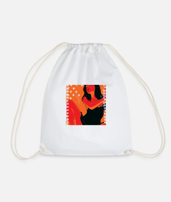 Sexy Bags & Backpacks - Girlfriend - Drawstring Bag white