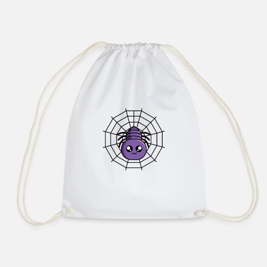 Gift Idea Bags & Backpacks - Spider in spider web - Drawstring Bag white