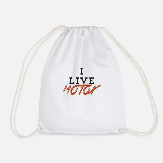 Motorcycle Bags & Backpacks - MOTOx motocross - Drawstring Bag white