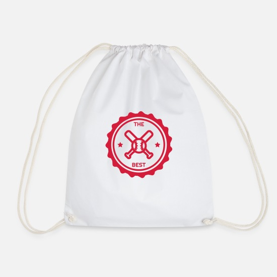 Play Bags & Backpacks - Baseball - Bat - Béisbol - Sport - Winner - Drawstring Bag white