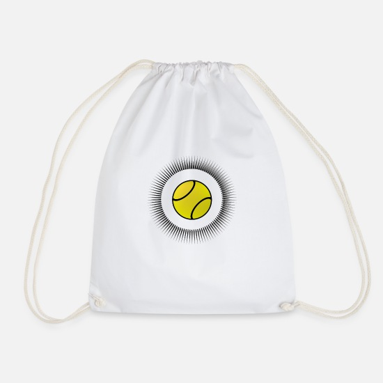 Tennis Match Bags & Backpacks - tennis ball beat tennis - Drawstring Bag white