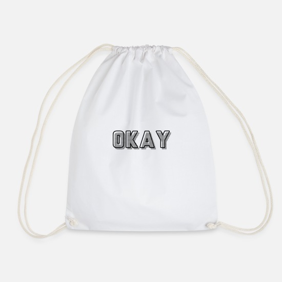 Ok Bags & Backpacks - OK - Drawstring Bag white