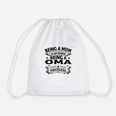 BEING A OMA - Drawstring Bag
