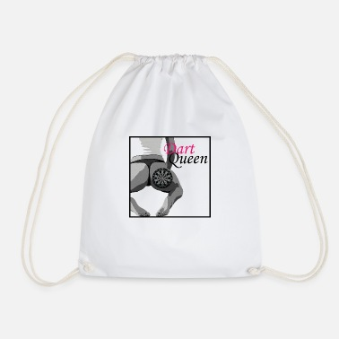 Association Underwear Darts Queen - Drawstring Bag
