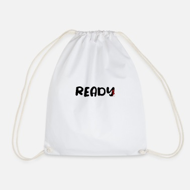 Fathers Day Underwear ready - funny - gift - summer - Drawstring Bag