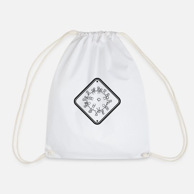 Sick Warning Warning Virus - Drawstring Bag