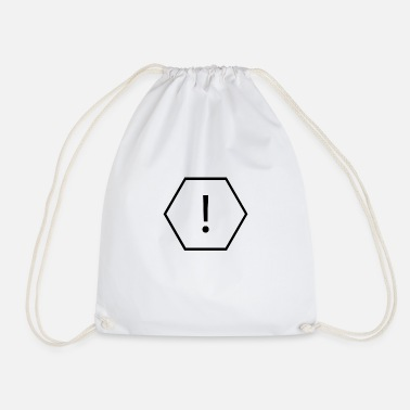 Dangerous danger sign - Drawstring Bag