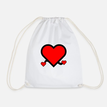 Cupido i love you red heart in love couple gift - Drawstring Bag