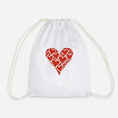 Hearts Heart of Hearts - Drawstring Bag