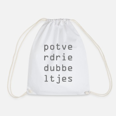 Potty Potty reds - Drawstring Bag