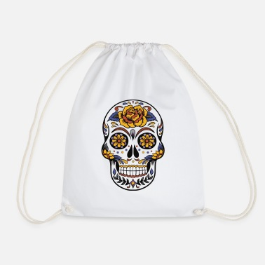 Pretty cute skull colorful dead head style cranium - Sac à dos cordon