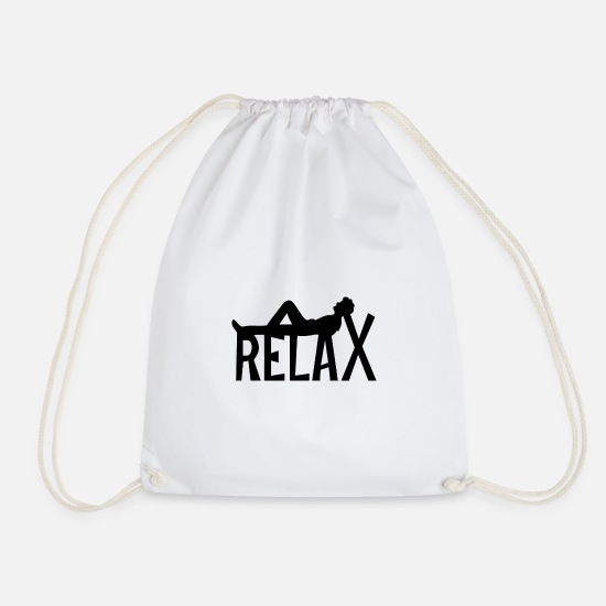 Birthday Bags & Backpacks - Relax - Drawstring Bag white