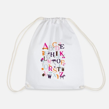 School Motif ABC - Drawstring Bag