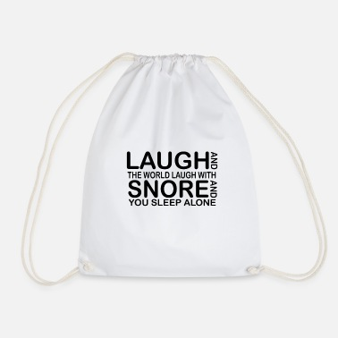 Funny Quotes laugh funny quotes - Drawstring Bag