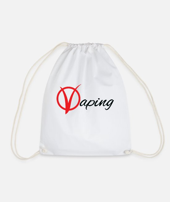 Hipster Bags & Backpacks - vaping - Drawstring Bag white