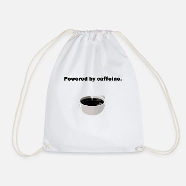 Powered by caffeine - Drawstring Bag