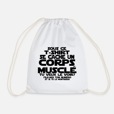 Geek citation humour corps musclé - Sac à dos cordon