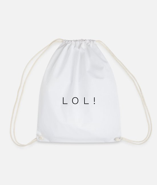Mummy Bags & Backpacks - lol - Drawstring Bag white