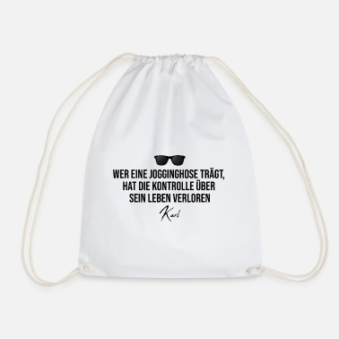 Karl Karl - sweatpants control - Drawstring Bag