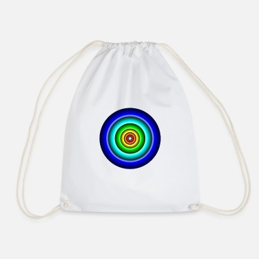 Circle Circle in circle - Drawstring Bag