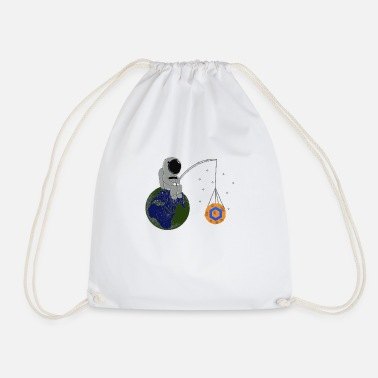 Chainlink Chainlink To the Moon - Drawstring Bag