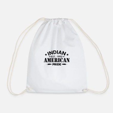 American Indian Proud to be an American Indian - Drawstring Bag