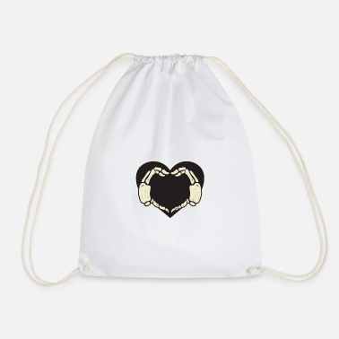 Hands Heart Skeleton - Drawstring Bag