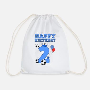 Birthday Happy Birthday 2nd birthday for boy - Drawstring Bag
