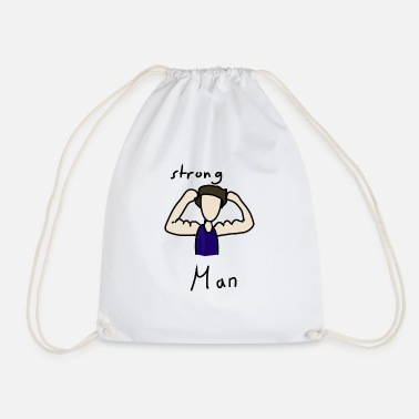 Strong Man strong man - Drawstring Bag