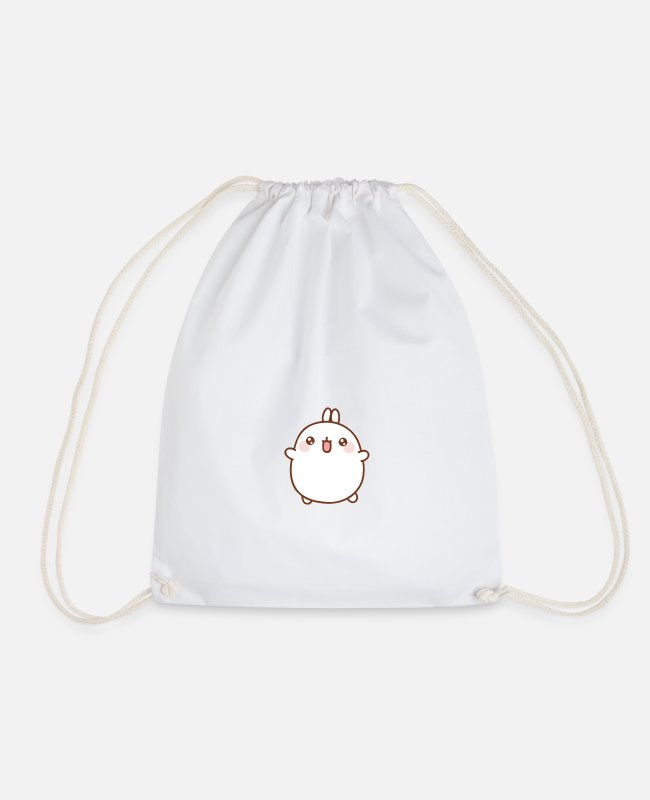 : Vv Bags & Backpacks - Kawaii - Drawstring Bag white