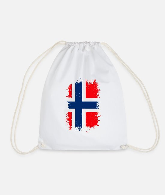 National Bags & Backpacks - Norway - Drawstring Bag white