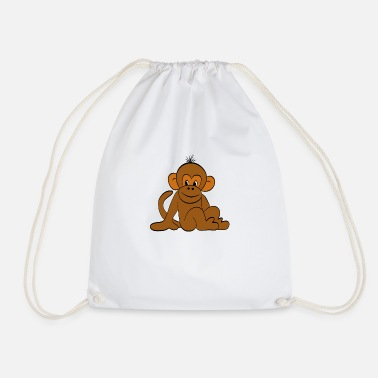 Cute Monkey Cute monkey - Drawstring Bag