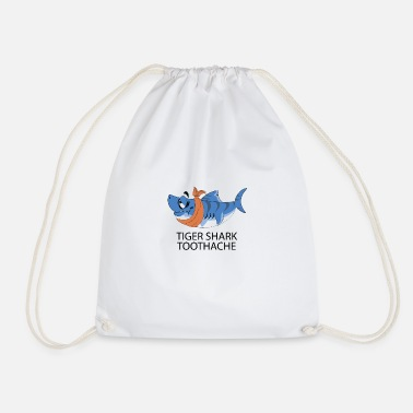 Tiger Shark Tiger shark toothache - Drawstring Bag
