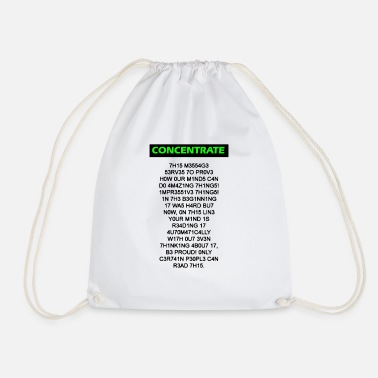 Intellect CONCENTRATE - Drawstring Bag