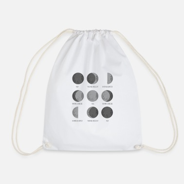 Moon Astronomy The moon phases space gift - Drawstring Bag